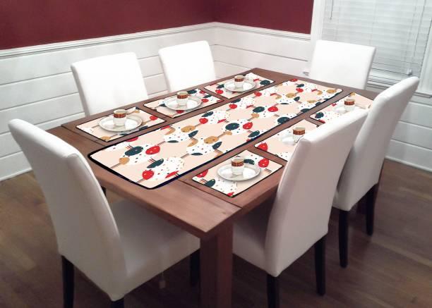 Diamond Multiple Store Multicolor PVC Table Linen Set