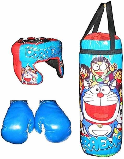 mayank & company Boxing Kit - 1 Punching Bag 1 - Head Security Gear 2 - Boxing Gloves Boxing Boxing