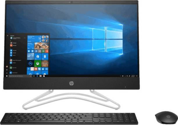HP All in One PC Pentium Quad Core (4 GB DDR4/1 TB/Windows 10 Home/21.5 Inch Screen/22-c0005in) with MS Office