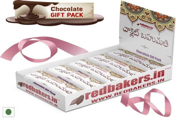 redbakers.in TELUGU 5 Chocolates Gift Pack Bars