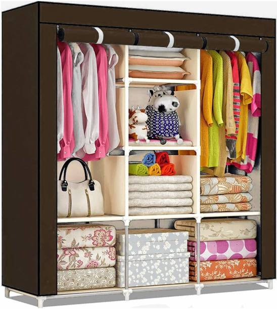 vipash 6+2 Portable Wardrobe for Storage Carbon Steel Collapsible Wardrobe