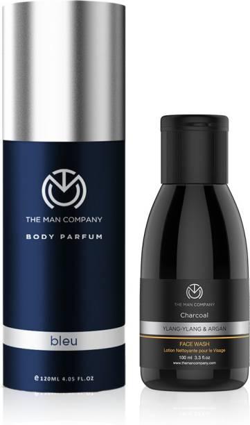 THE MAN COMPANY Refresher Combo (Bleu Body Perfume, Charcoal Face Wash)