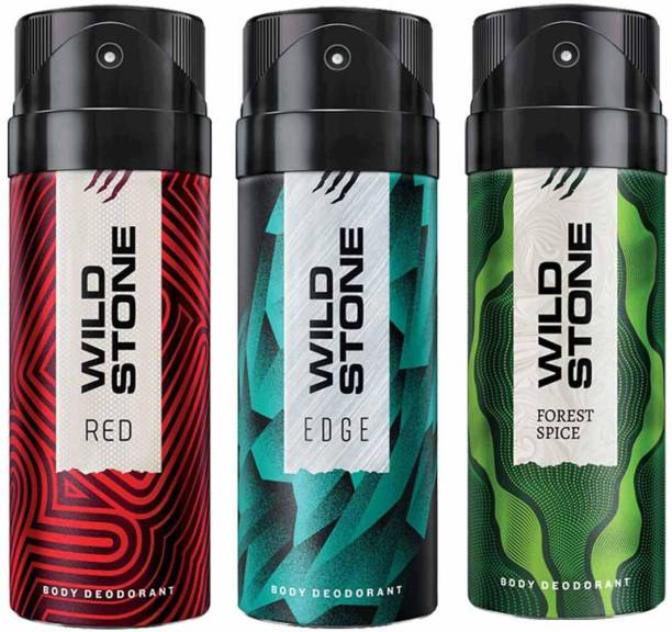 Wild Stone edge,forest spice, red deodorant combo Body Spray  -  For Men