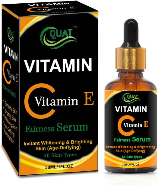 QUAT Vitamin C Skin Brightening, Anti Aging, Spotless Skin,Sun Protection, Under Eye Circles, Facial Serum with Vitamin E and Hyaluronic Acid