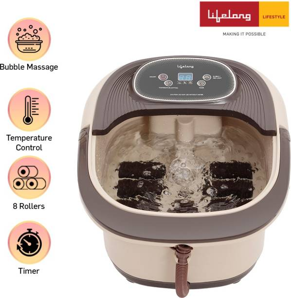 Lifelong LLM216 Water Heating Foot Spa And Massager Machine for Pain Relief, Foot Care with Electric Pedicure Tub and Pedicure Massager