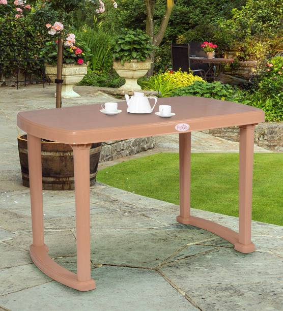 Petals Desire 4 Seater Dining Plastic 4 Seater Dining Table