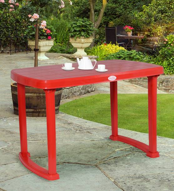 Petals Desire 4 Seater Dining Plastic Outdoor Table