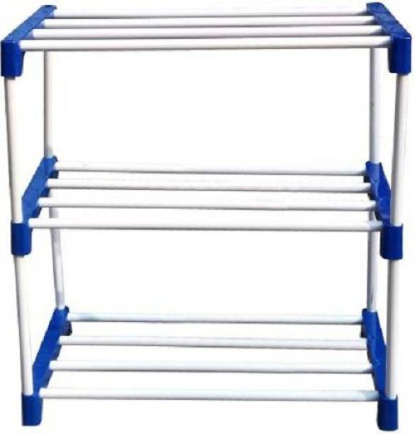 Caxon Blue Steel Open 3L Stand Metal Collapsible Shoe Stand