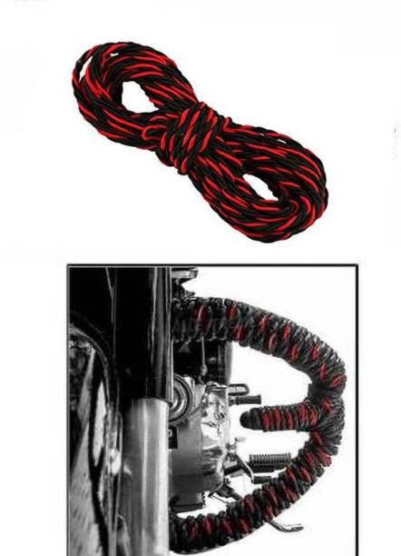 Vizzard Black & Red rope_02160 Leg_guard Bike Crash Guard Rope