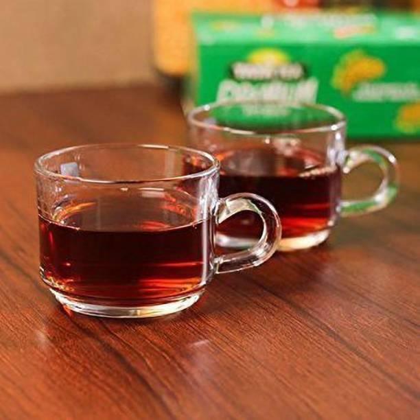Fashionhub Pack of 6 Glass New Design Tea & Coffee Cup set Deli Piece 210 ml