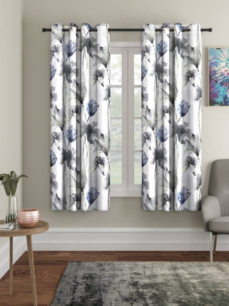 Home Sizzler 152 cm (5 ft) Polyester Window Curtain (Pack Of 2)