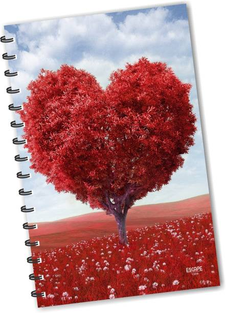 ESCAPER Love Heart Tree Forest Diary (RULED), Love Diary, Designer Diary, Journal, Notebook, Notepad, Friendship Diary A5 Diary Ruling 160 Pages