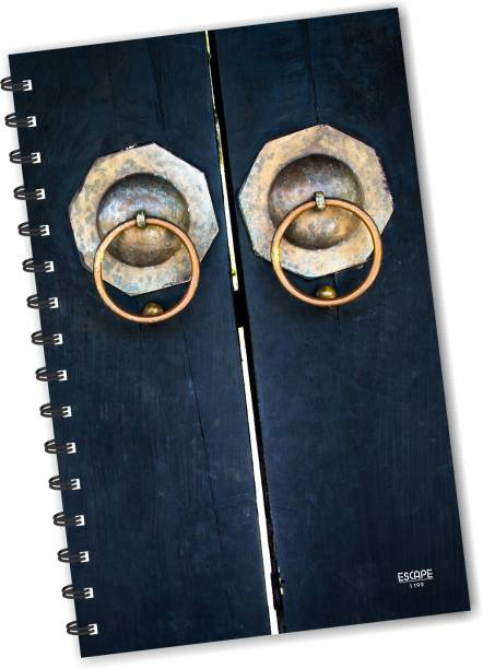 ESCAPER Door Handles Diary (RULED), Vintage Diary, Designer Diary, Journal, Notebook, Notepad A5 Diary Ruling 160 Pages