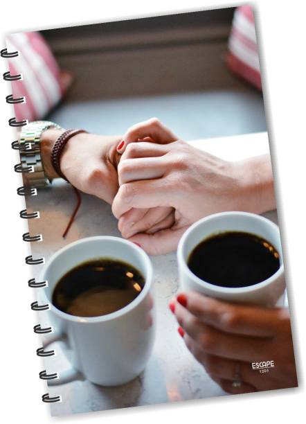 ESCAPER Coffee with Hands Diary (RULED), Love Diary, Designer Diary, Journal, Notebook, Notepad, Friendship Diary A5 Diary Ruling 160 Pages