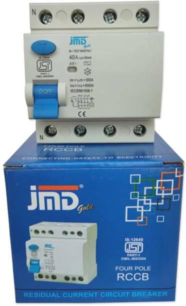 JMD GOLD Four Pole 40 AMP/30MA 240 V Residual Current Circuit Breaker ISI Mark MCB RCCB40FP30MA2 MCB