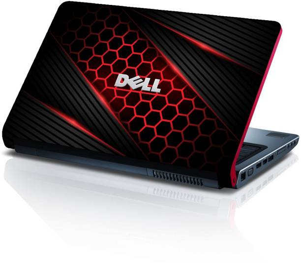 Techfit Honeycomb Red Black - Removable Vinyl HD Printed Laptop Skin/Sticker/Cover for 13.1, 13.3, 14.1, 14.4, 15.1, 15.6 inches Vinyl Laptop Decal 15.6