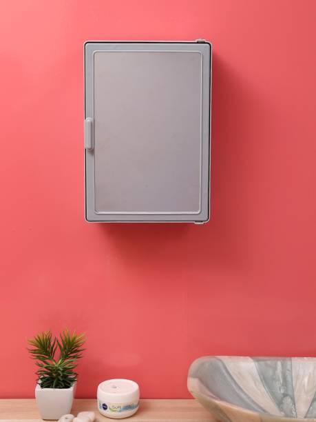 Zahab Bathroom Cabinets for Storage with Mirror Door 10 x 4 x 14 Gray Dual Mount Medicine Cabinet