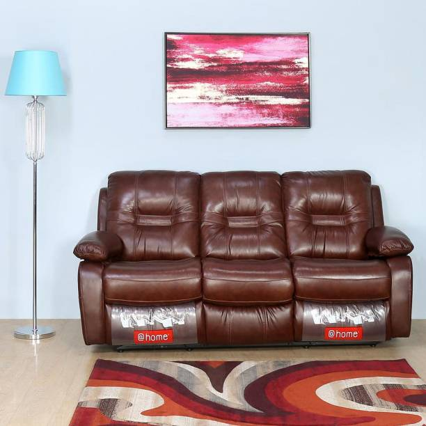 @Home by nilkamal Wilson Half-leather Powered Recliner