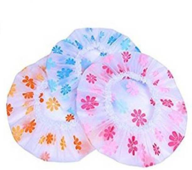 CRIYALE Waterproof Plastic Home Shower Bath Hat Lady Salon Hair Care Cap Spa Caps