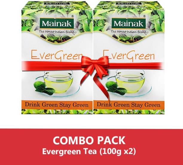 Mainak Evergreen Unflavoured Green Tea Box