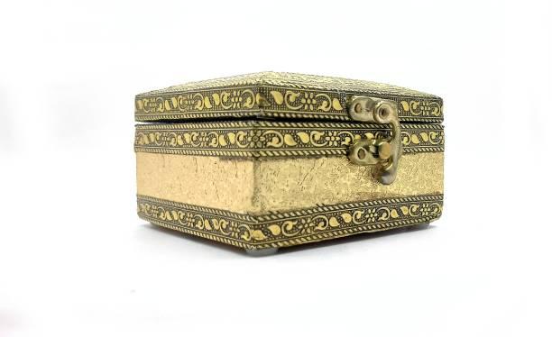 Vinayak K Jewelry Box Marriage, Anniversary, Gift Item, Engagement, Handmade Wooden, Multi Purpose, Jewelry Box Multi Use, Jewelry Storage Vanity Box (Golden, Copper) Jewelry Box Vanity Box