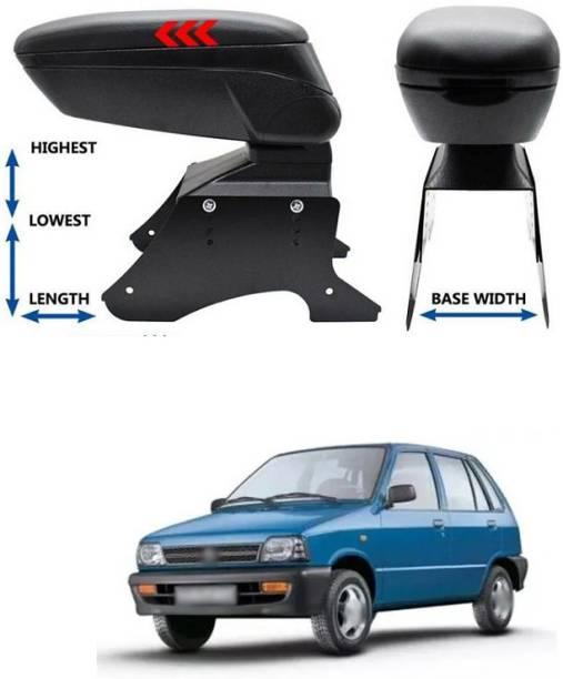 PECUNIA Car Armrest Console - Adjustable Durable Soft High Grade PU Leather Armrest Center Console Storage Box Universal Fit 128 Car Armrest