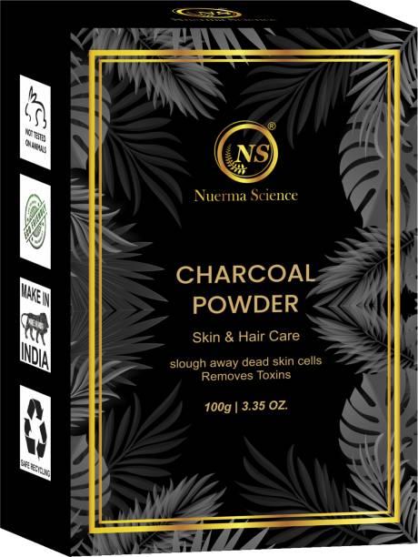 Nuerma Science Bio Organic Charcoal Powder For Skin Lightening & Teeth Whitening