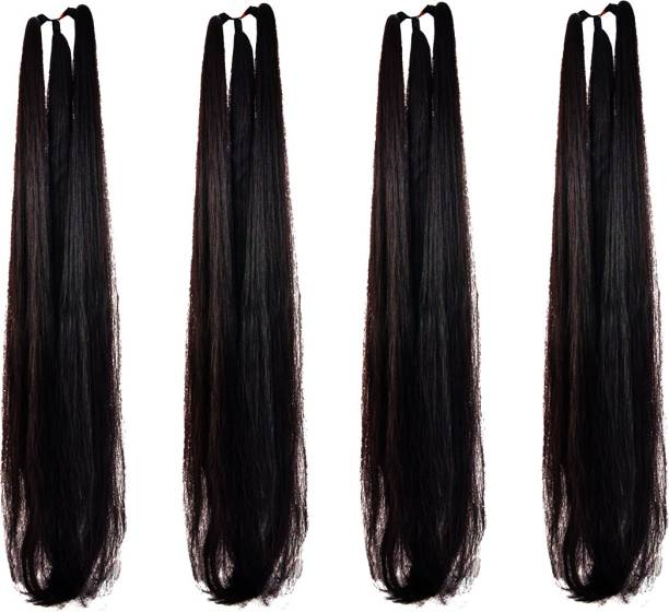 BELLA HARARO Hair Extention Braid Extension 30 inch (Black)-Pack of 4 Braid Extension