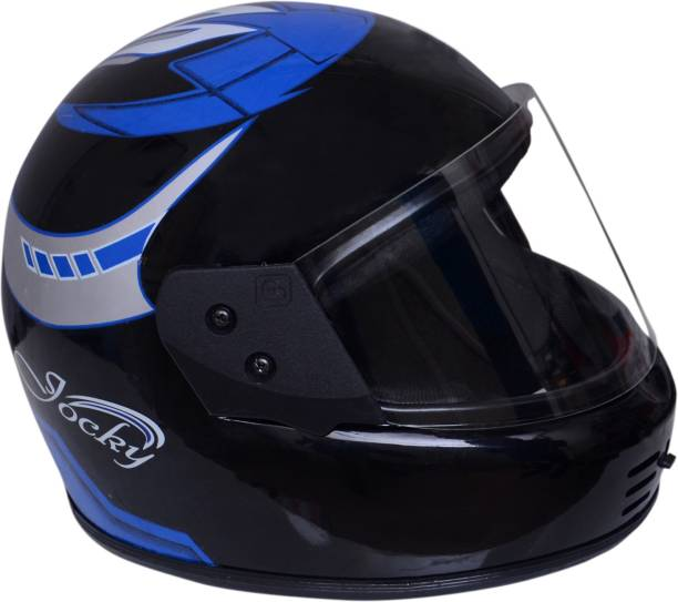 ARN Full Face Helmet ISI marked Motorbike Helmet-blue/silver/black Motorbike Helmet