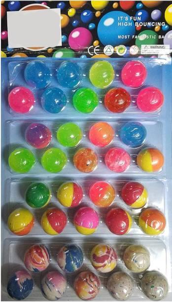 VK MART Bouncy Jumping Gift for Kid Children Boys MultiColour Set of 36 pack of 1 Crazy Ball Crazy Ball