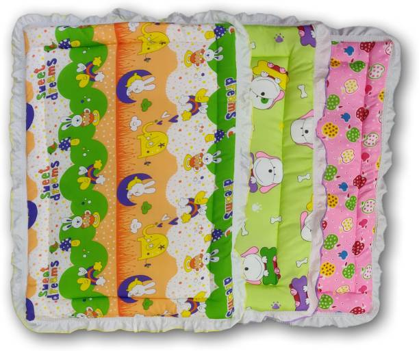 Miss & Chief New Born Baby Fril Bed, Bedding Pack Of 3(0-6 Months) Standard Printed