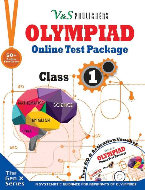 Olympiad Online Test Package Class 1 (Free CD With Activation Voucher)