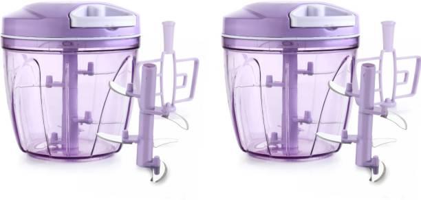 maxme 900 ML 2 IN 1 CHOPPER, MULTIPURPOSE USE CHOPPER,Sharp Cutter Purple Color 2 piece Vegetable & Fruit Chopper