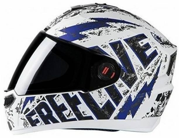 Steelbird Air FREE LIVE BLU WHITE HELMET 0032 Motorsports Helmet