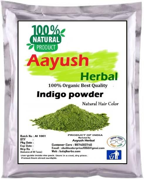 Aayush herbal 100% Natural Organic Indigo Leaf Powder for Hair Colour 50g