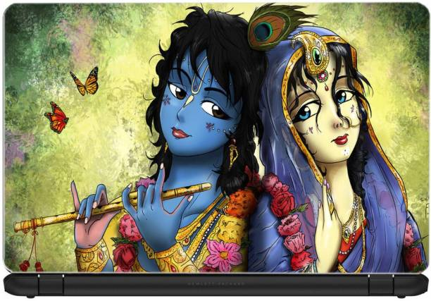 Gallery 83 ® Radha Krishna Exclusive High Quality Laptop Decal, laptop skin, laptop sticker 15.6 inch (15 x 10) Inch BB_skin_5021new Vinyl Laptop Decal 15.6