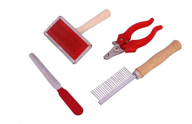 PET ON WHEEL Pet Grooming Kit for Dogs & Cat, Slicker Brush , Nil Cutter, Dog Comb Manual Pet Grooming Table