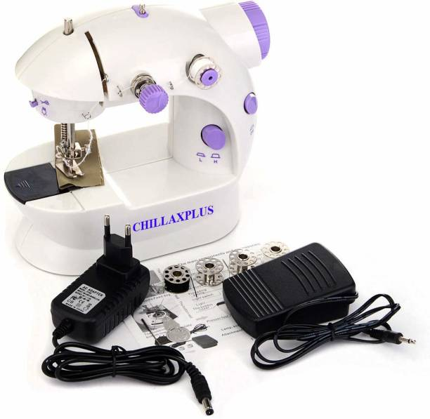 CHILLAXPLUS Portable 4 in 1 with adapter and foot pedal Electric Sewing Machine