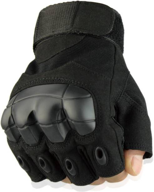 GymWar Half Finger Tactical Gloves Military Army Shooting Hunting Climbing Cycling Gym & Fitness Gloves