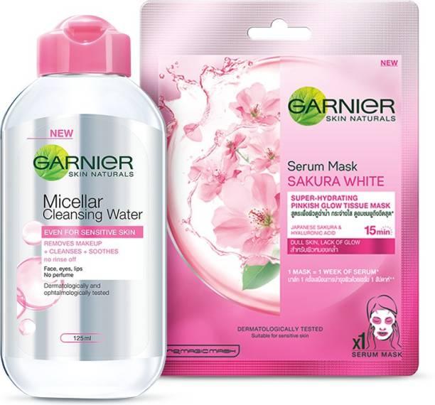 GARNIER Skin Naturals Sakura White Sheet Mask + Micellar Cleansing Water 125ml