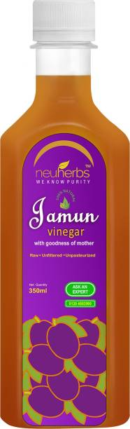 Neuherbs Jamun Vinegar with the Mother, Raw and Unfiltered Energy Drink