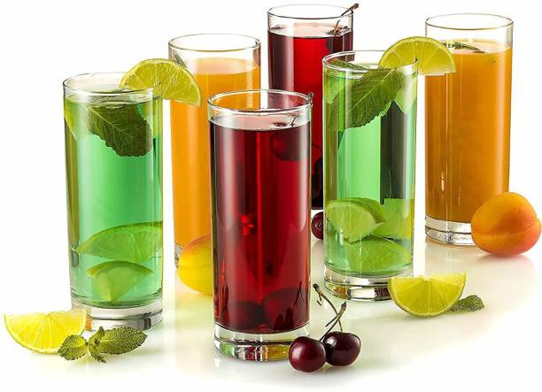 SARDAR CREATION (Pack of 6) Unbreakable Drinking Glass High Ball Glass 300 ML PACK OF 6 Glass Set