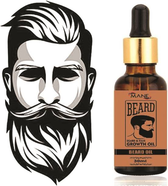 Mane Organics 7X Fast Beard Growth Oil (Blend of 10 Natural Oils)  Hair Oil