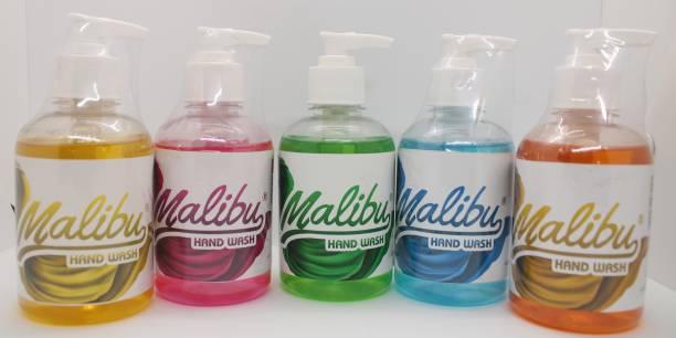 Malibu Hand Wash 250 ML - COMBO OF 5 Hand Wash Pump Dispenser