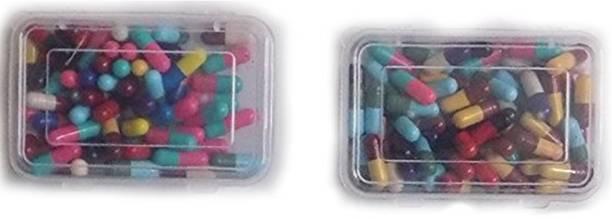 S K Bright Multi Creatives Colorful Capsule (50-55 pcs) Holi Color Powder Pack of 55
