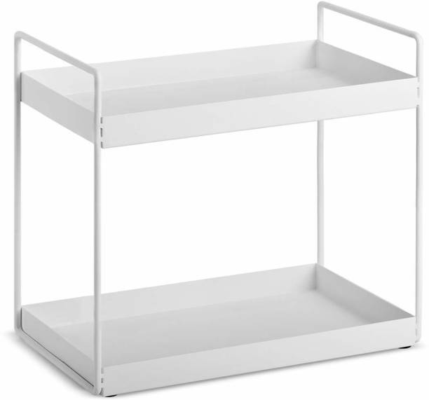 Xllent 2-Step White Steel- Kitchen Rack/Bathroom/ Countertop Organizer/ Cosmetic Rack/ Kitchen Counter/ Shelves/ Spice Rack Can Kitchen Rack