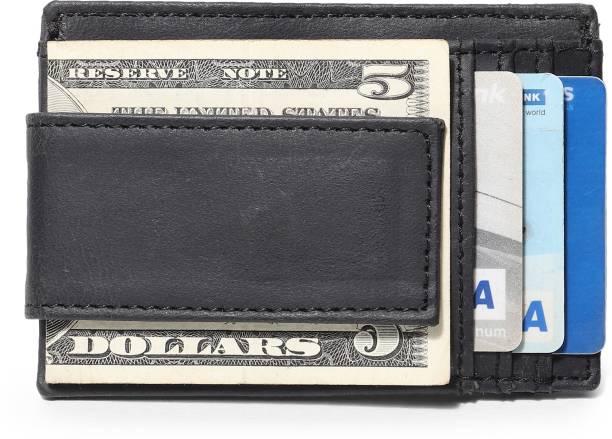 Jungler RFID Blocking Genuine Leather Magnetic Minimalist Front Pocket Money Clipper Bifold Wallet Leather Money Clip