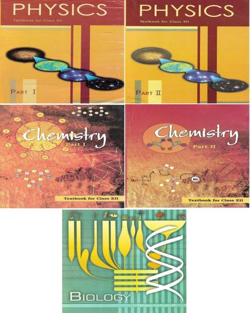 Class 12th NCERT BOOKS (Physics Chemistry Biology) 5 BOOKS