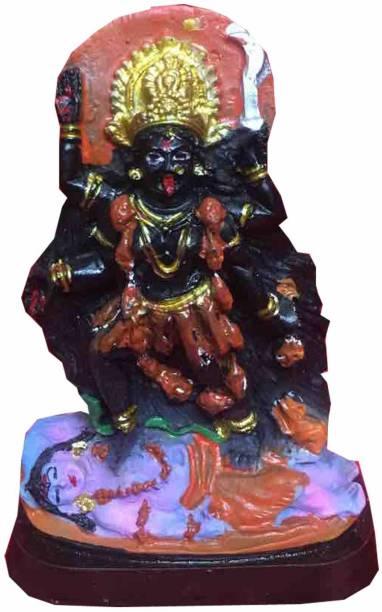 salvusappsolutions Maa Kali Marble Dust Hindu Goddess Statue Maa Kali Goddess Statue Hindu Idol Decorative Showpiece  -  12 cm