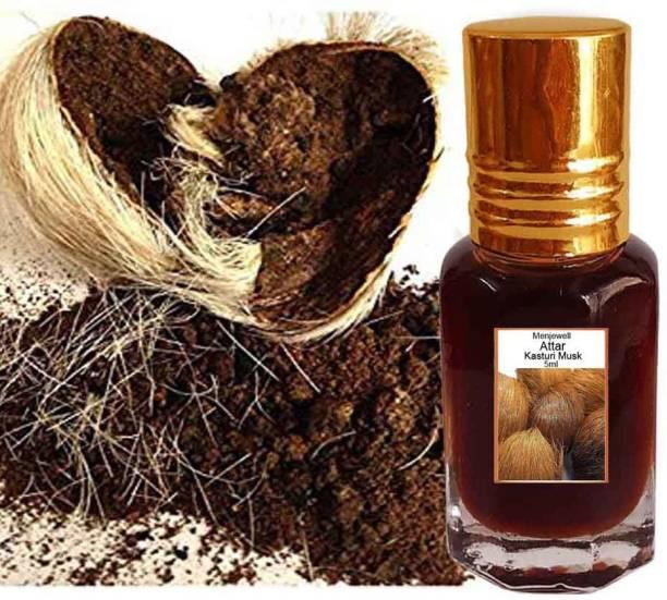 Menjewell fragrances Kasturi Musk (Natural Itra/Attar/ Perfume) Floral Attar